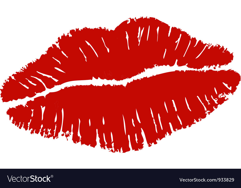 Lipstick kiss vector image