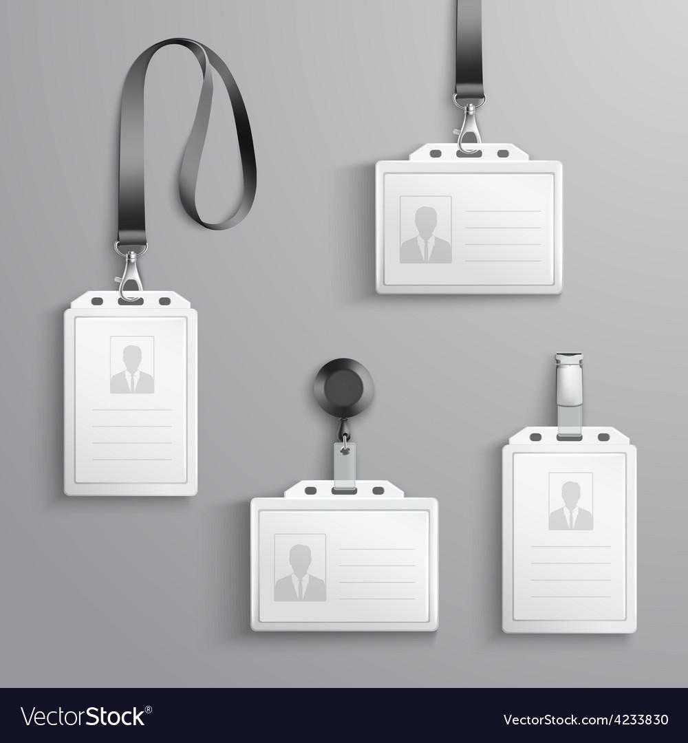 Identification Cards Set vector image