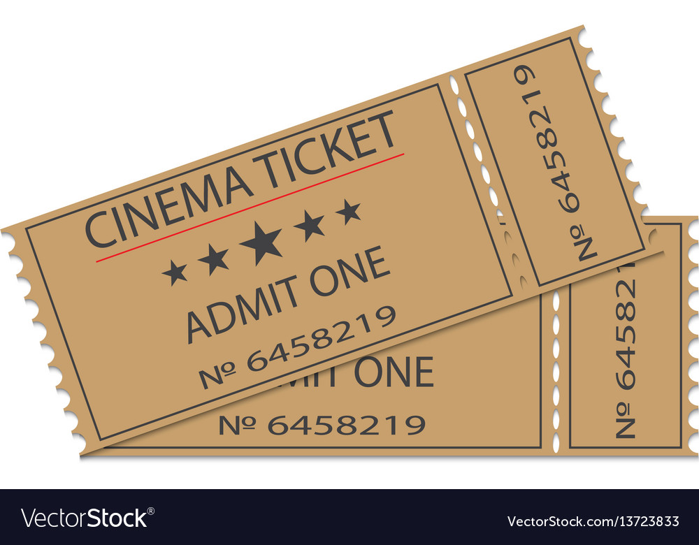 Cinema tickets with shadow vector image