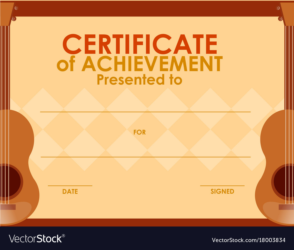 Certificate template with guitar royalty free vector image certificate template with guitar vector image 1betcityfo Choice Image