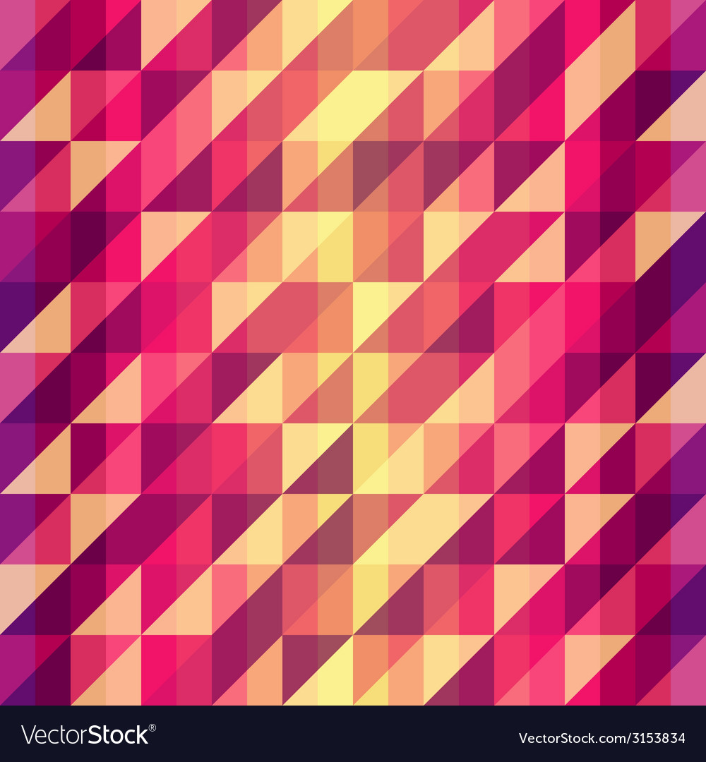 Colorful geometric Retro pattern vector image