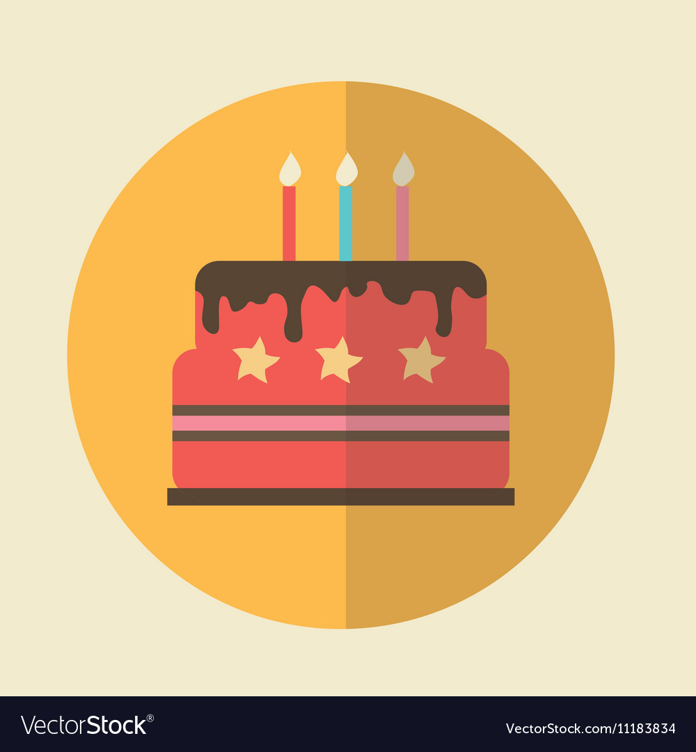 Flat icon birthday cake icon royalty free vector image flat icon birthday cake icon vector image buycottarizona