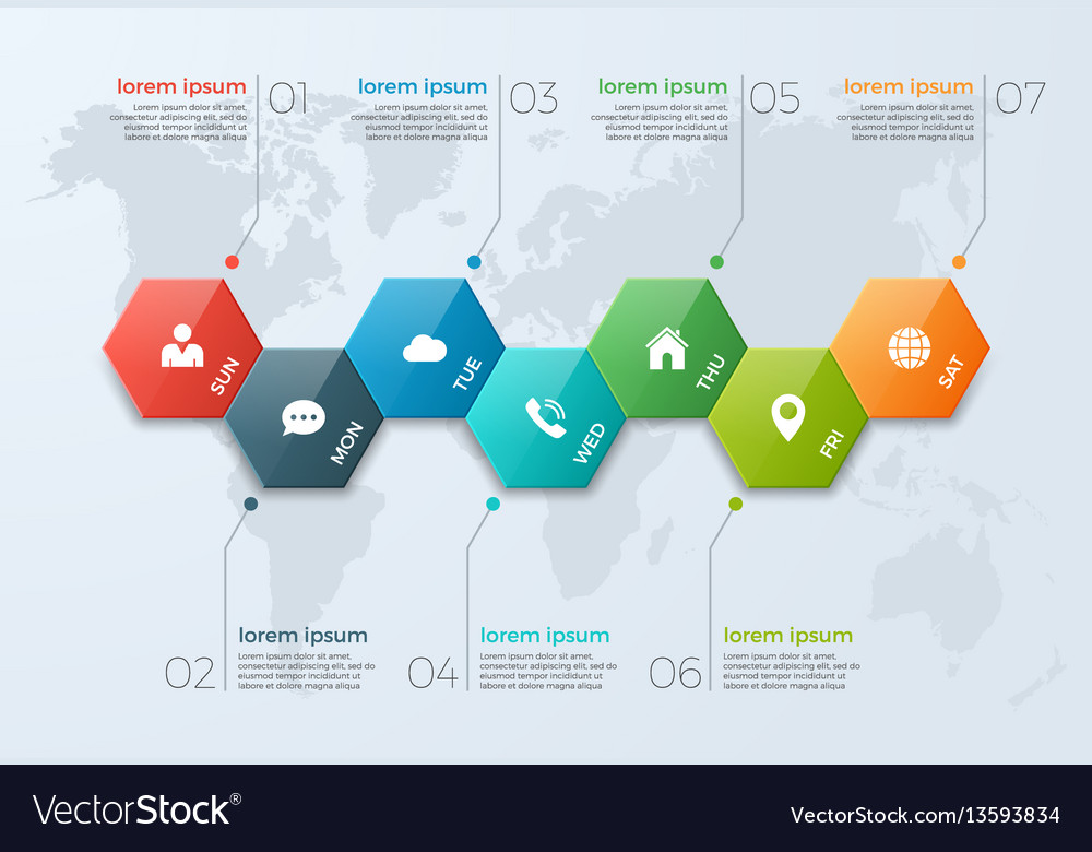 Timeline Chart Infographic Template With Options - Timeline graphic template