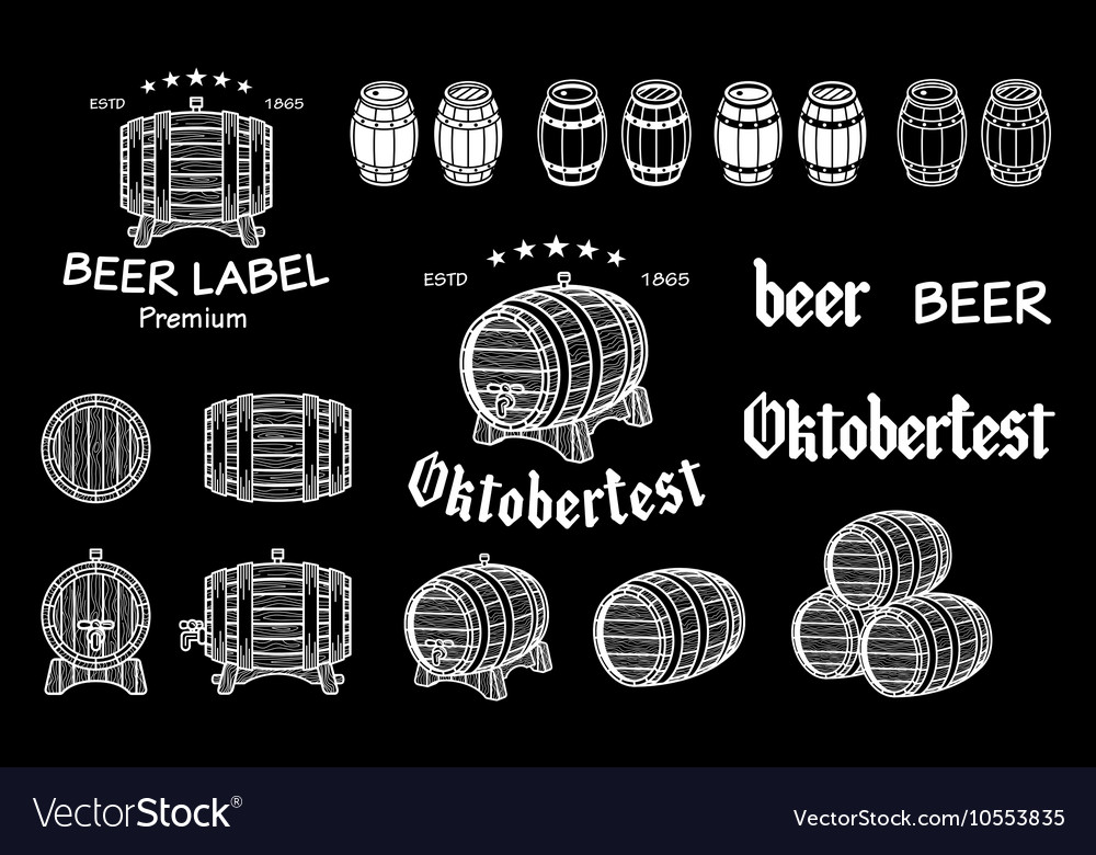 Barrel drawn on the chalkboard global vector image