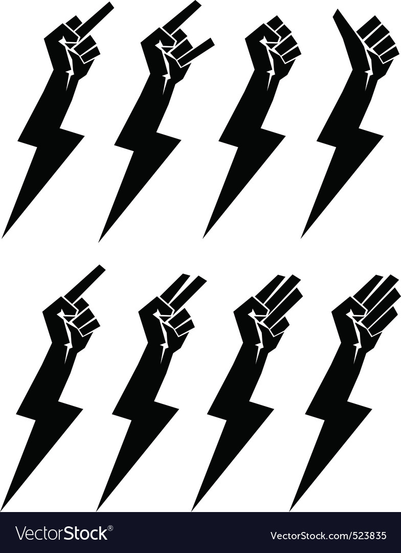 Fistbolt collection vector image