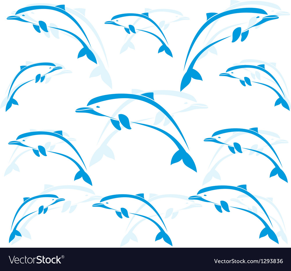 Dolphin 2 vector image