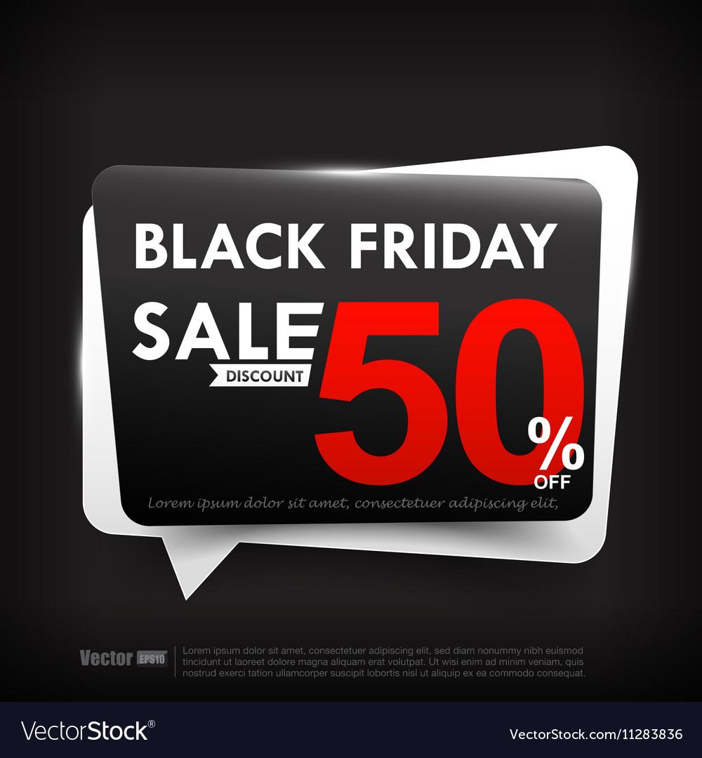 Black friday web tag banner promotion sale vector image
