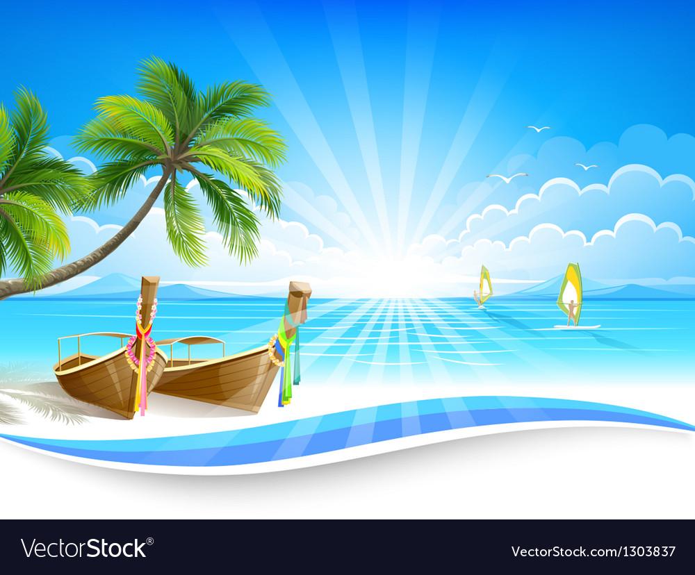 Paradise island vector image