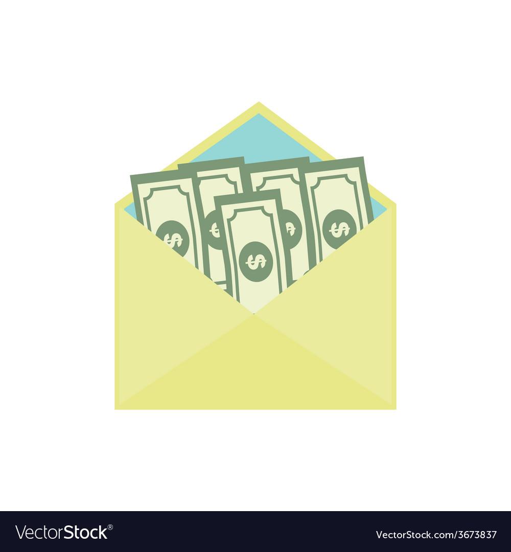 Bribe Flat Icon Corruption Concept vector image