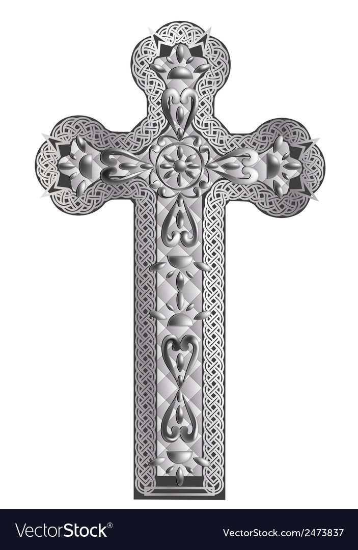 Old cross vector image