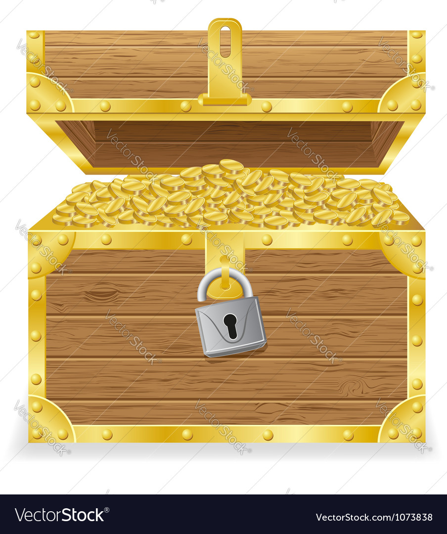 antique treasure chest royalty free vector image