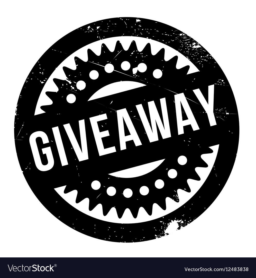 Giveaway rubber stamp vector image