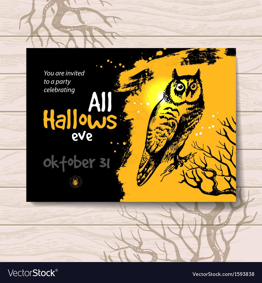 Vintage hand drawn halloween invitation royalty free vector vintage hand drawn halloween invitation vector image stopboris Gallery