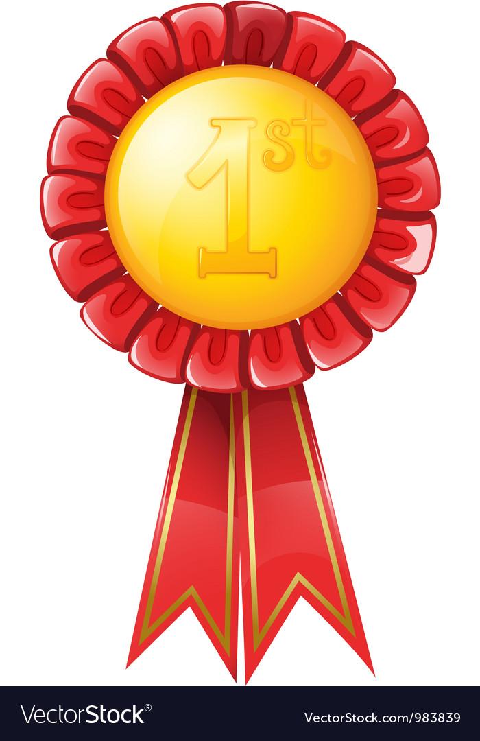 First Place Award Ribbon vector image