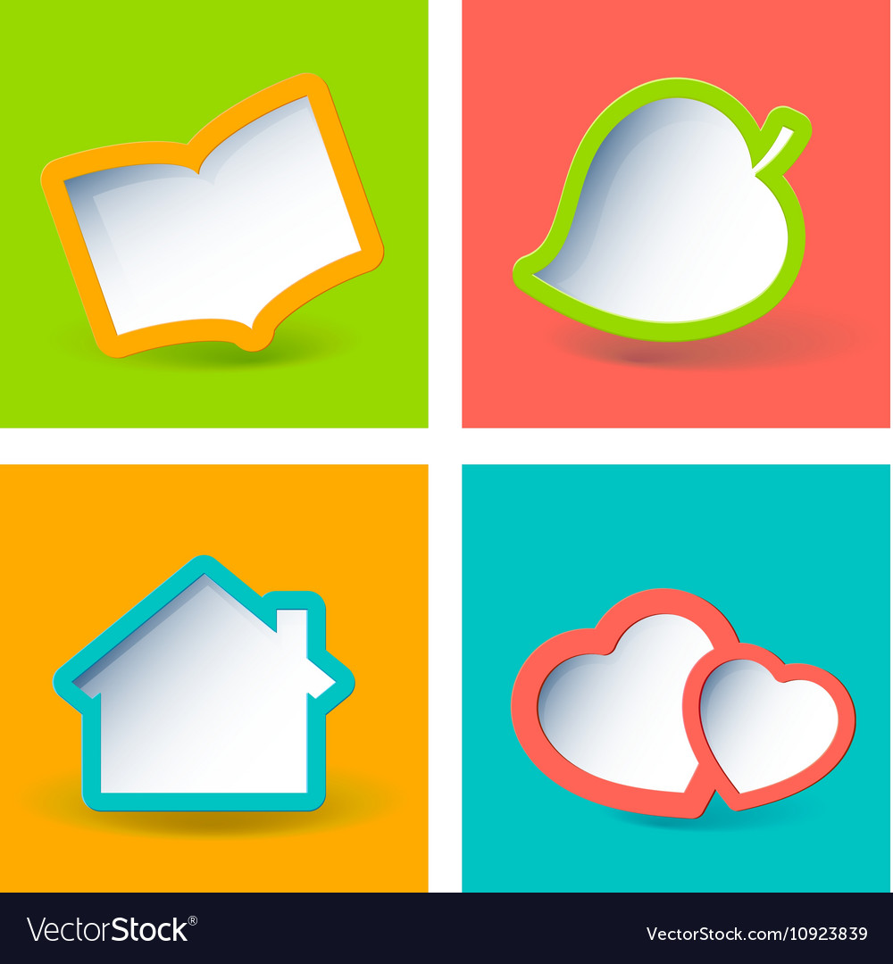 Retro styled paper frames vector image