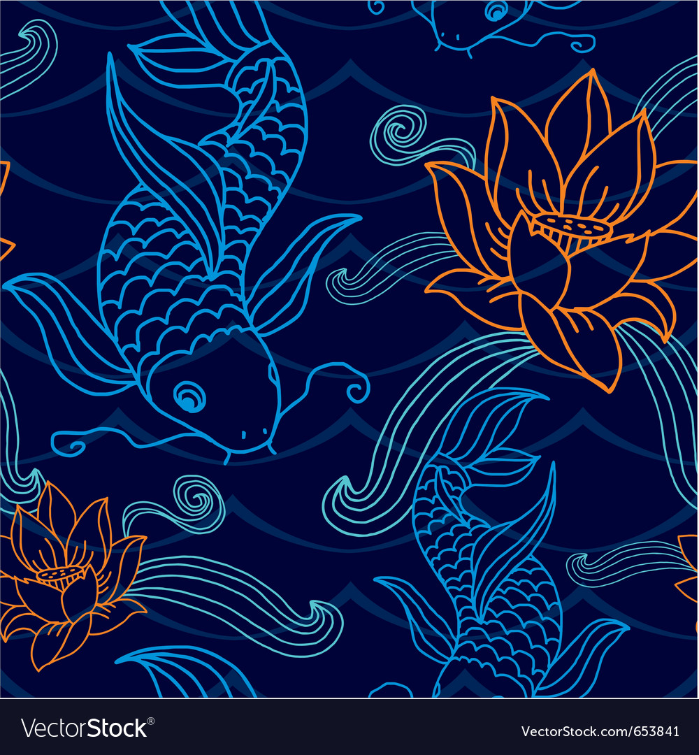 Oriental seamless tile vector image