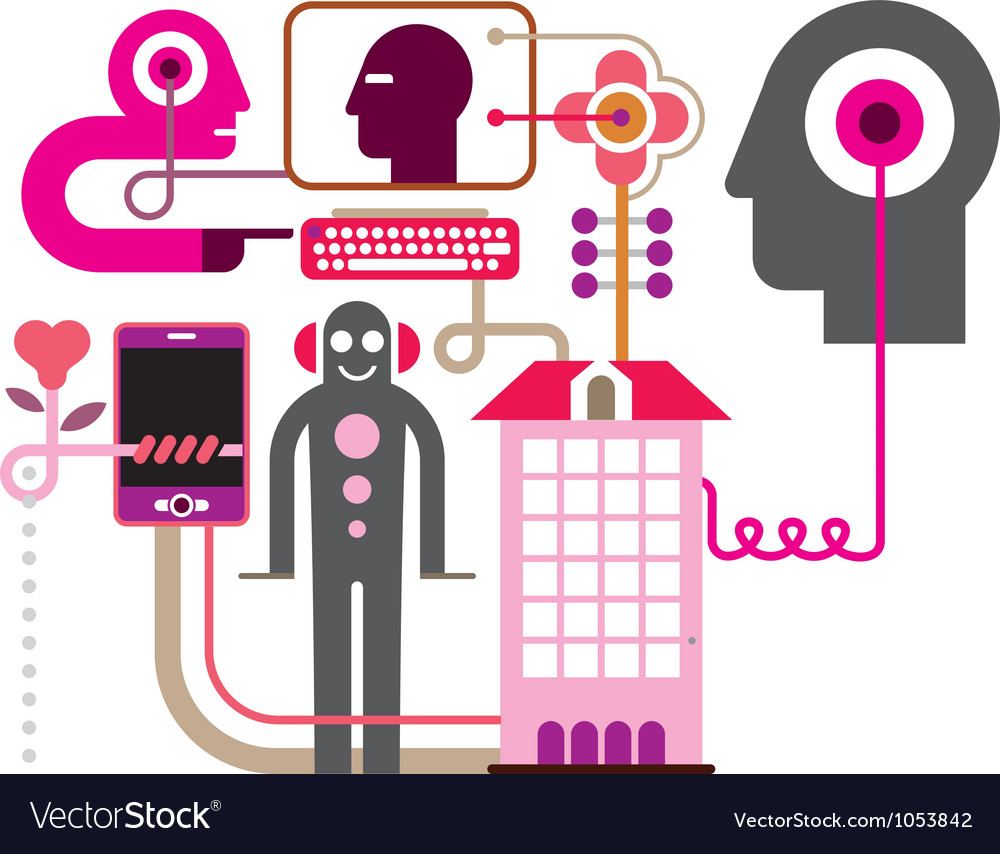 Network vector image
