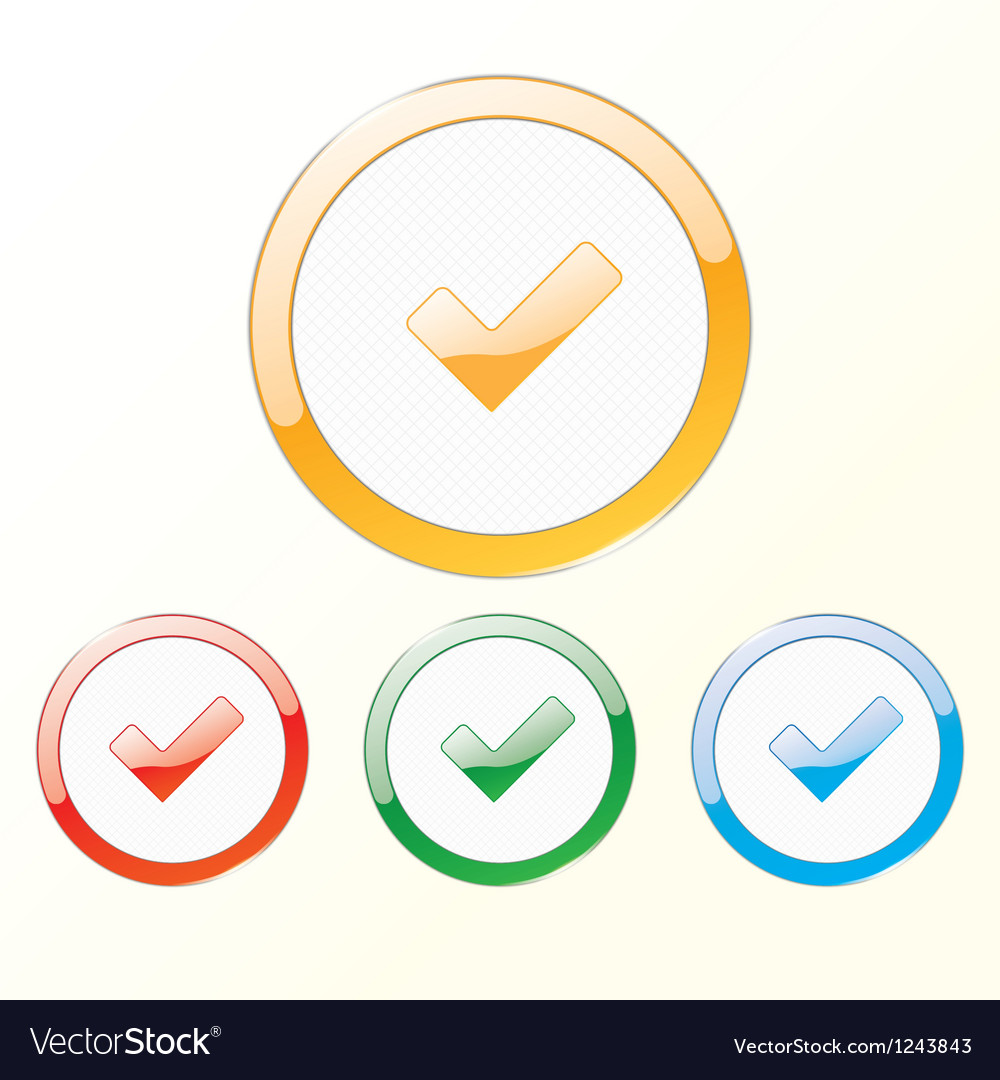 Sign checkbox vector image