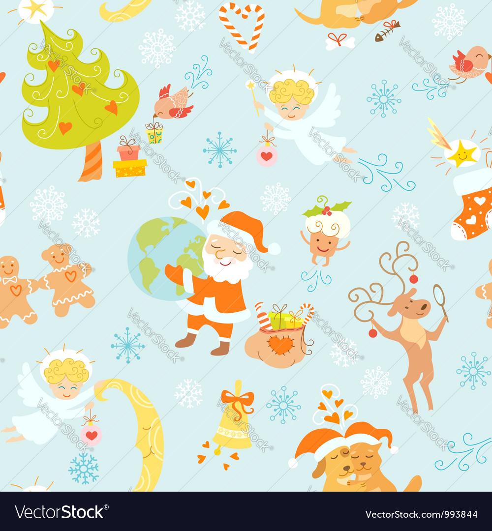 Love Christmas vector image