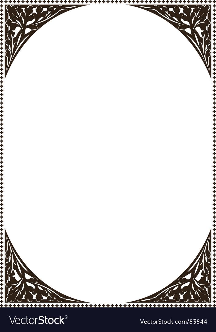 Ancient frame patterns vector image