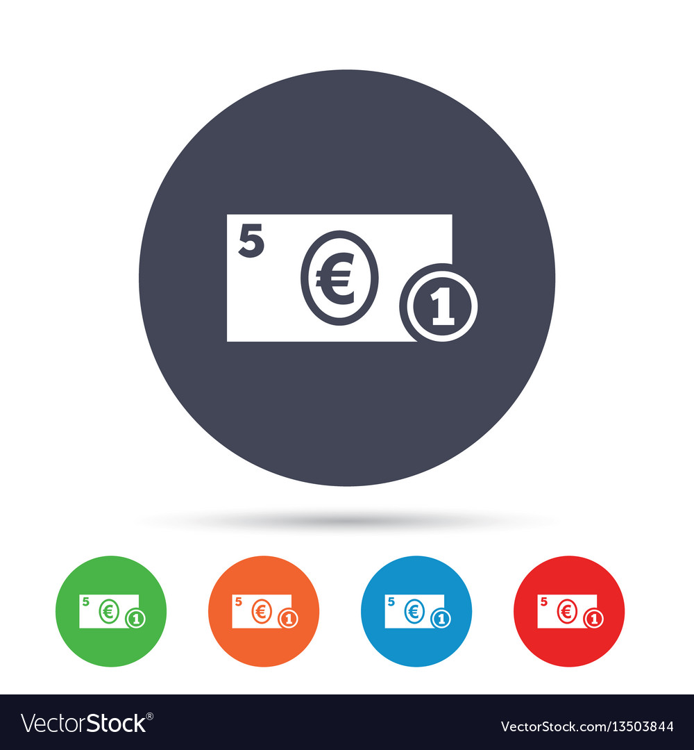 Cash sign icon euro money symbol coin royalty free vector cash sign icon euro money symbol coin vector image buycottarizona Gallery