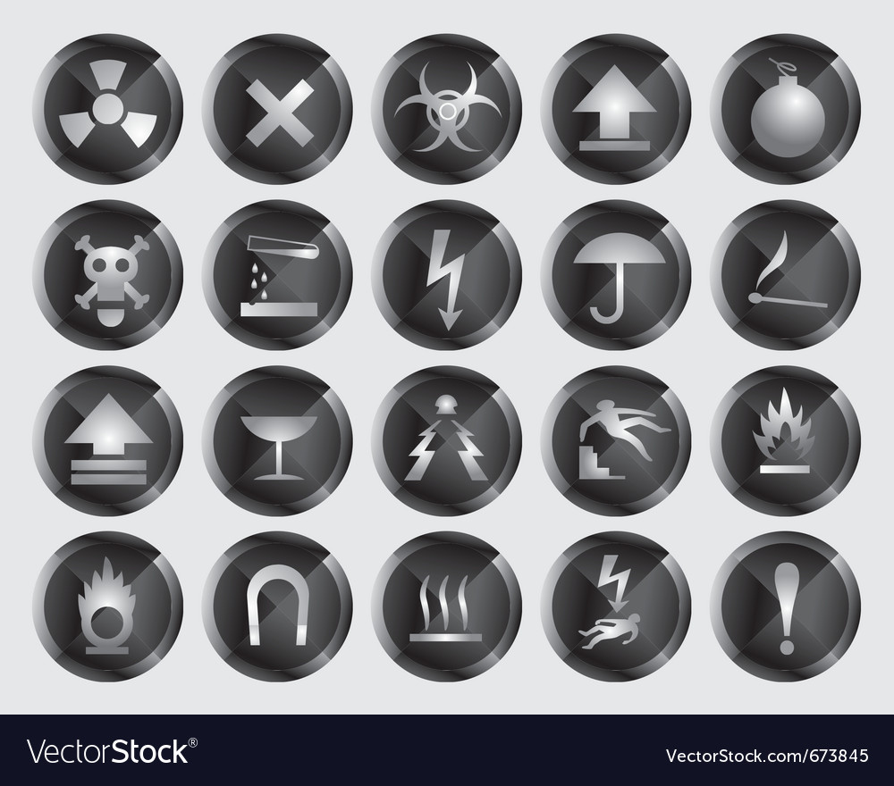 Danger signs and icons vector image