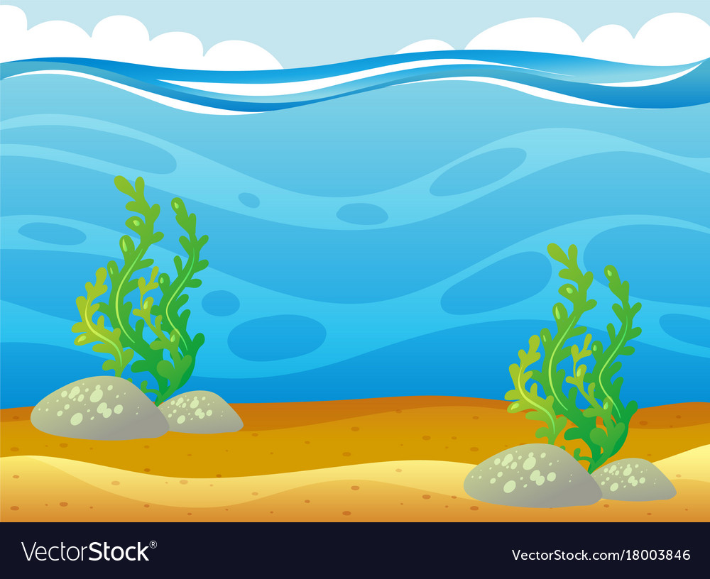 Ocean scene with seaweed underwater royalty free vector ocean scene with seaweed underwater vector image voltagebd Gallery