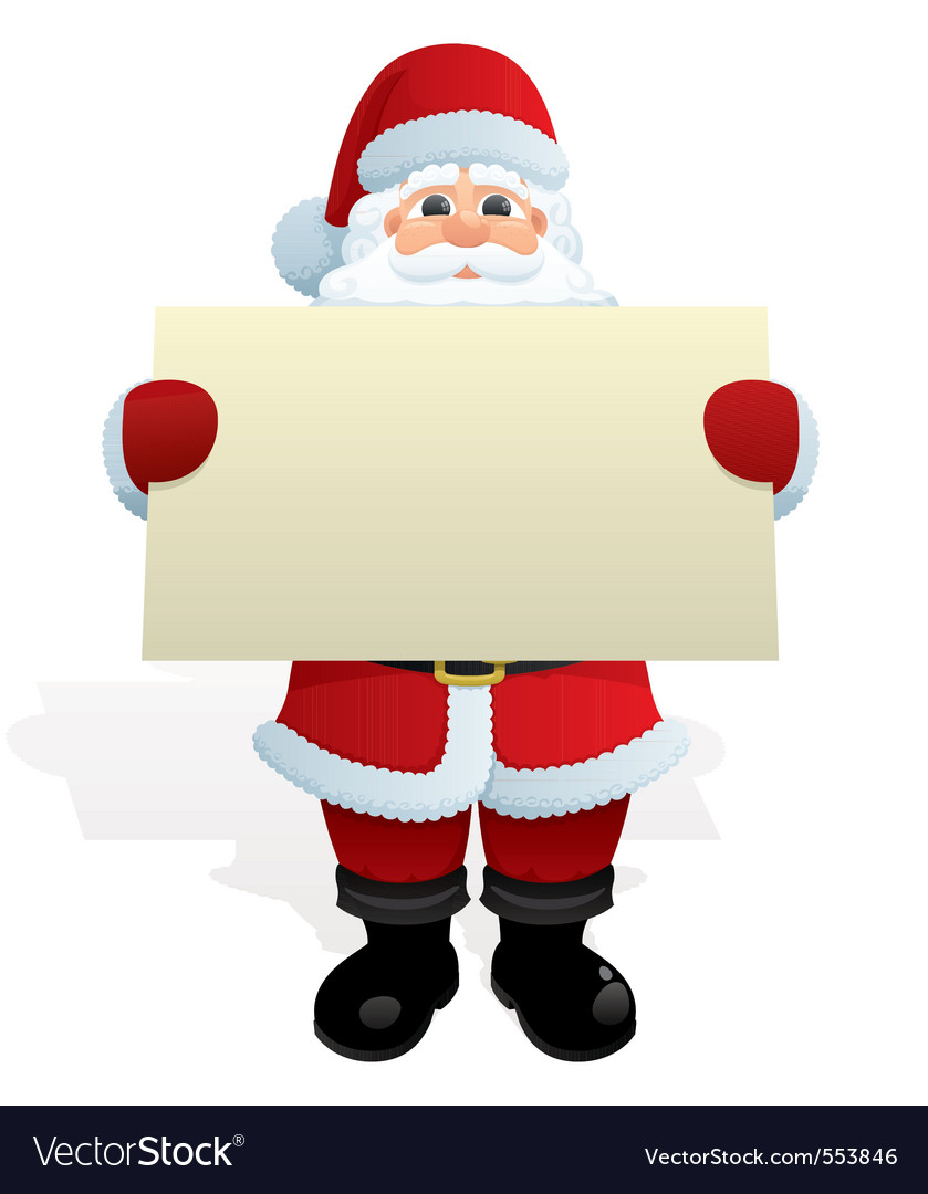 Santa with message vector image