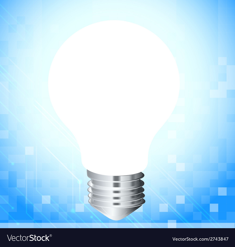 A light bulb vector image