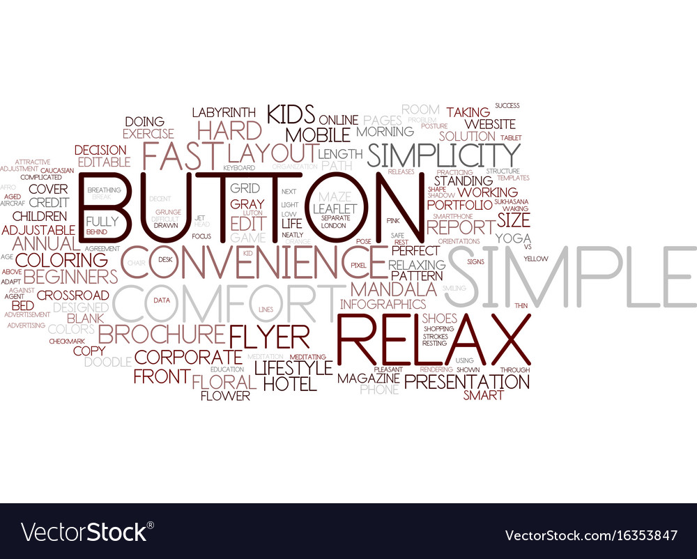Easy word cloud concept vector image