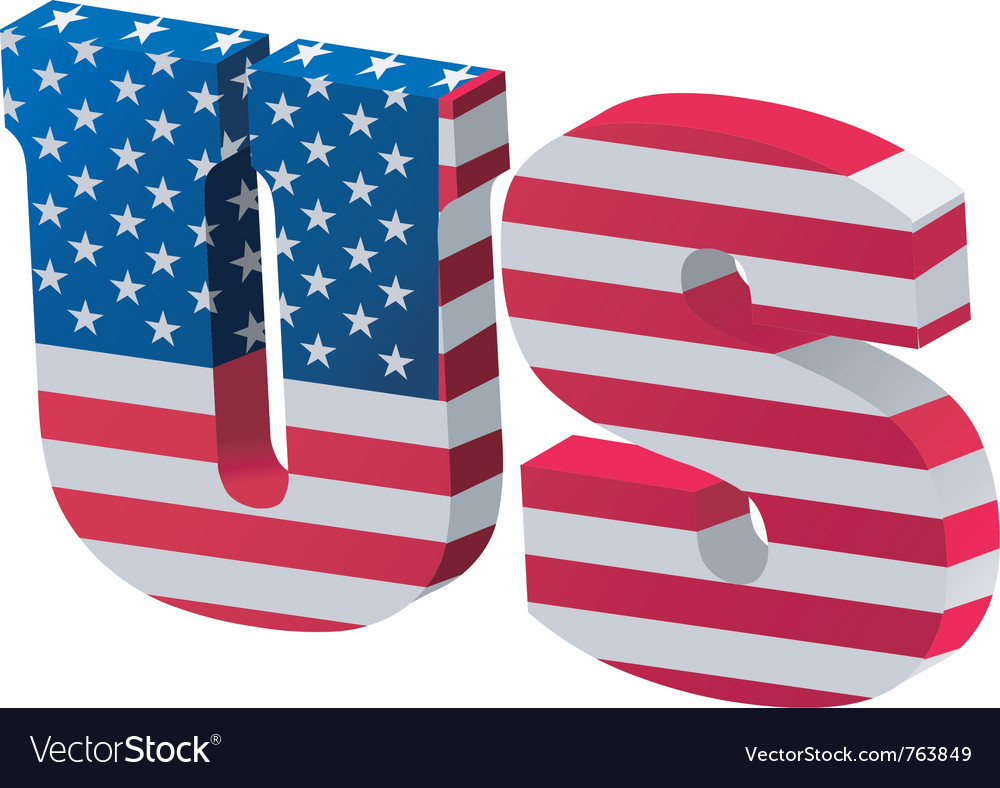 Internet top-level domain of united states vector image
