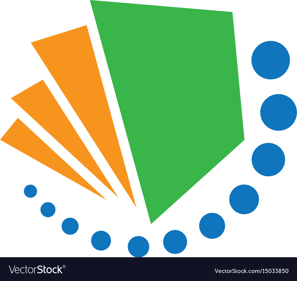 Abstract book dot swirl logo image vector image