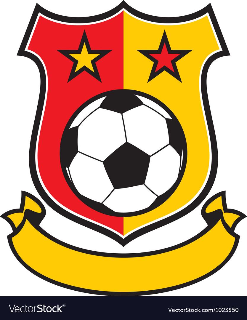 Football club shield vector image