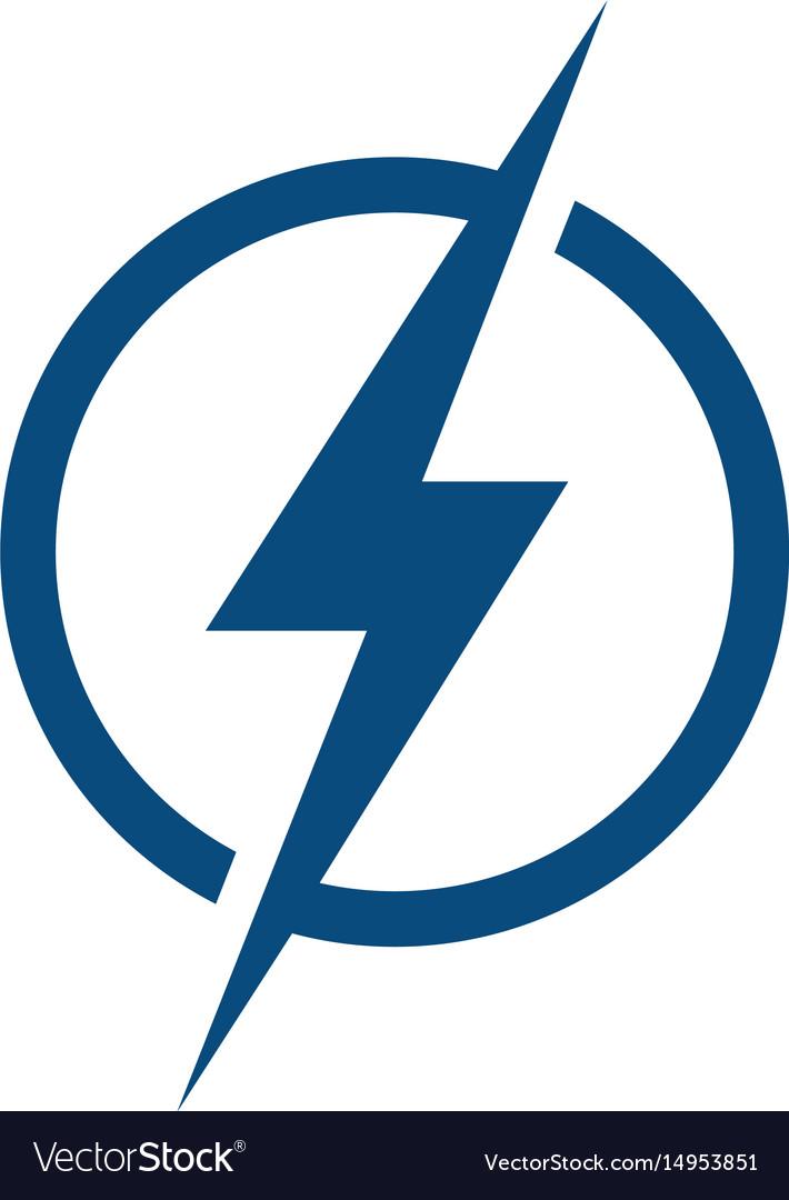 Lightning Logo Design Vector Image