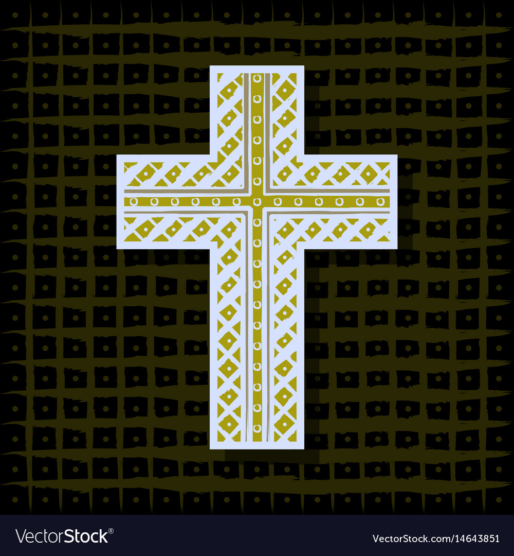 Orthodox christian cross-background vector image