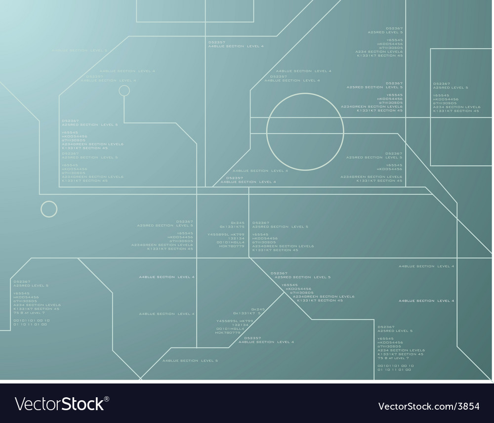 Technology green vector image