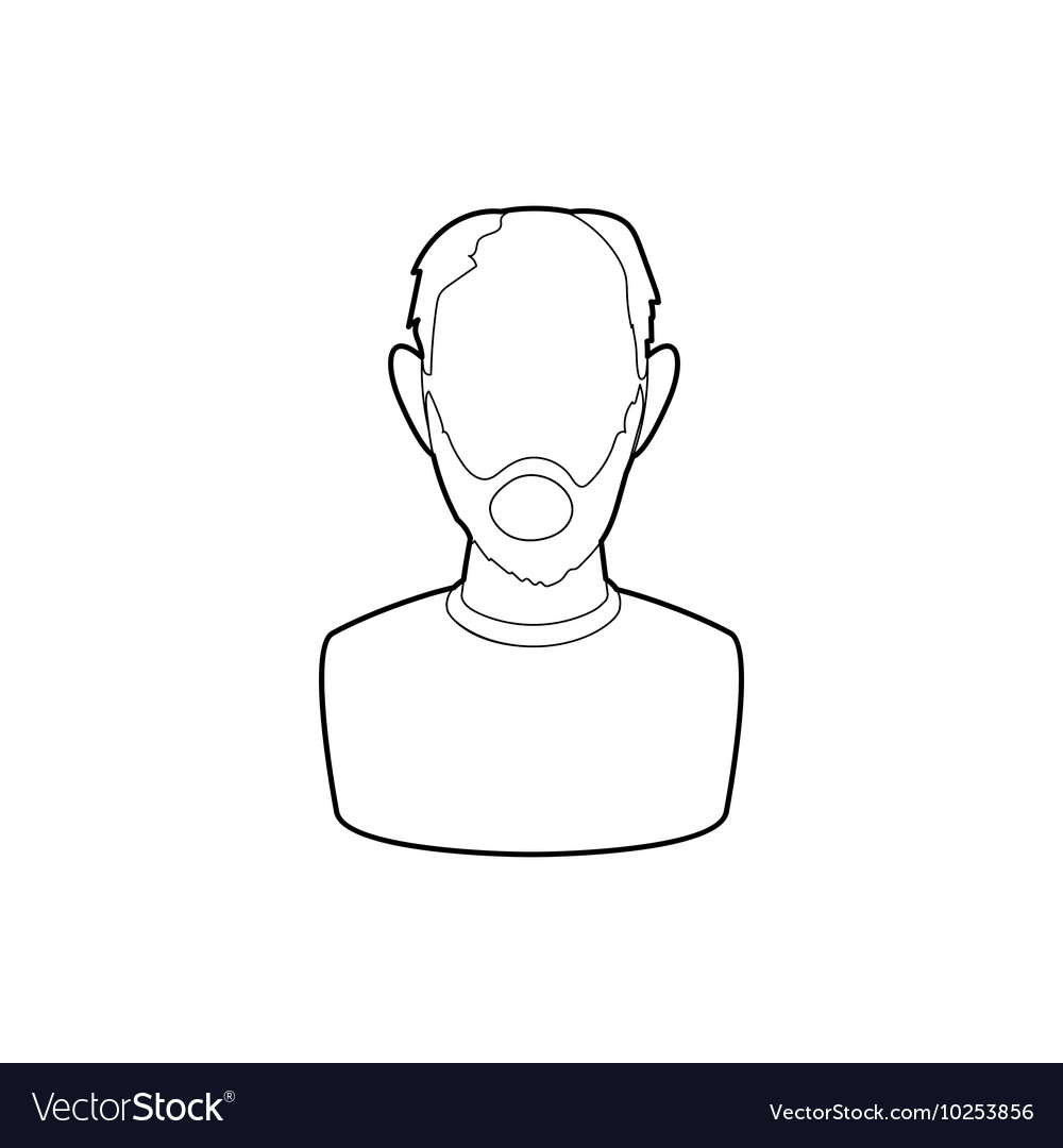 Pension insurance icon outline style vector image