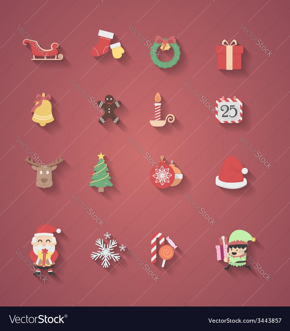 Christmas icon flat design vector image