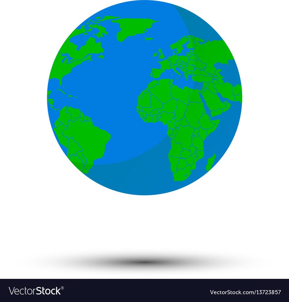 Globe world map vector image