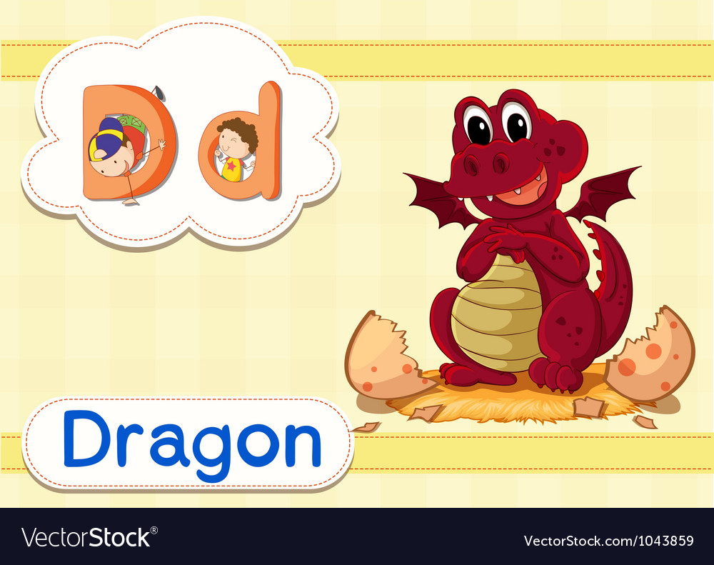 D for Dragon Vector Image