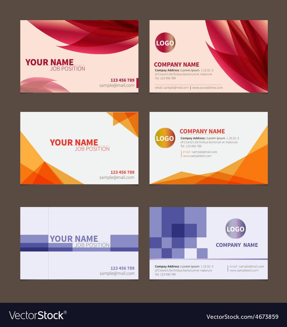 Business Name card set 1 Royalty Free Vector Image