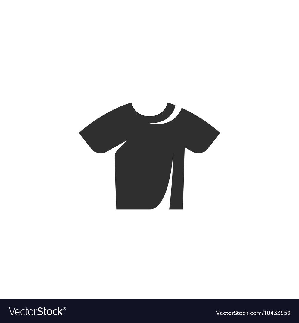 Tshirt icon isolated on a white background vector image
