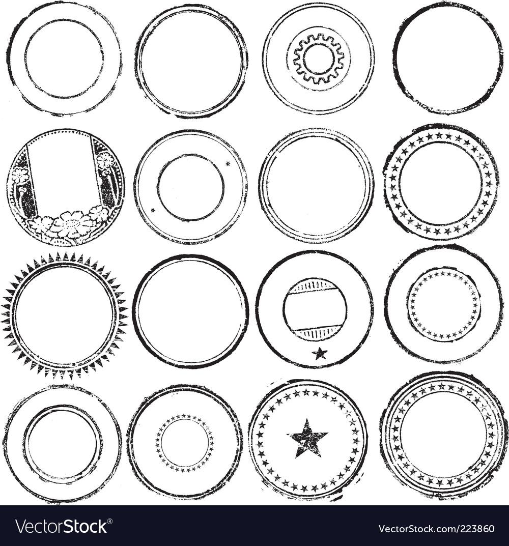 Stamp set vector image