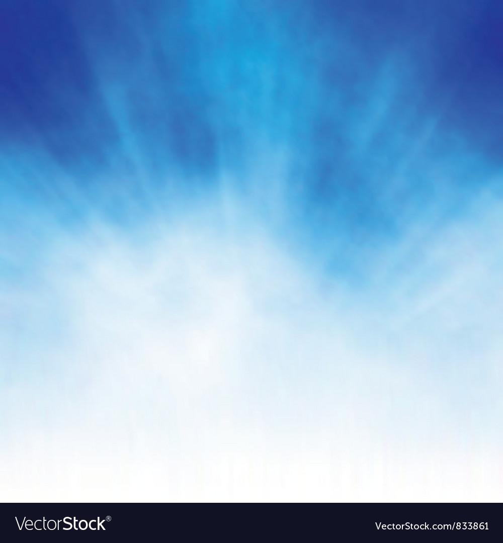 White burst on blue vector image
