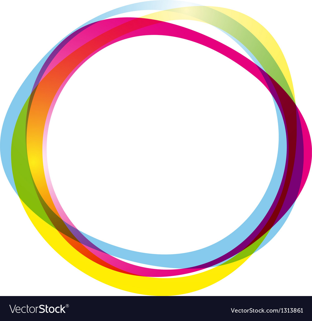 Colorful ring logo vector image