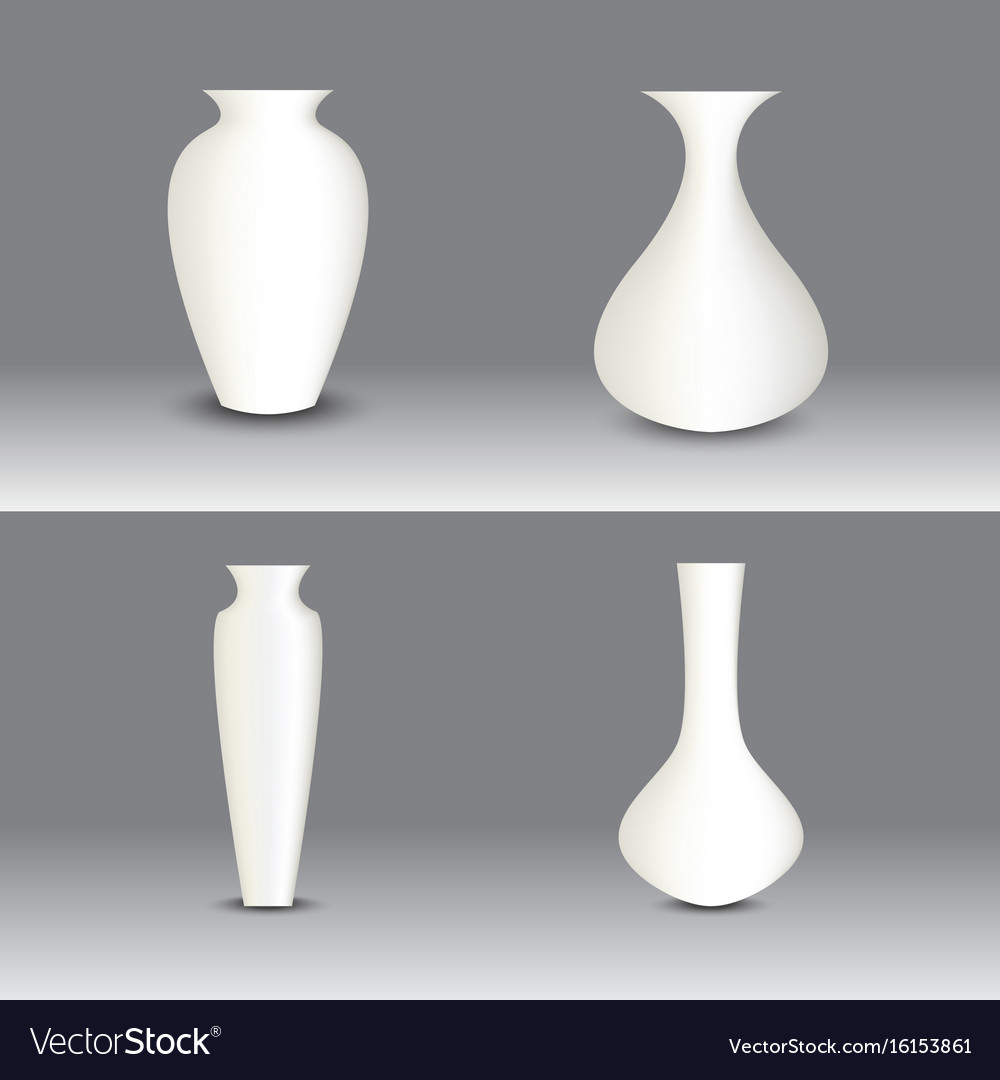 White vase set object royalty free vector image white vase set object vector image reviewsmspy