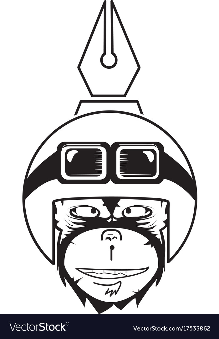 Creative monkey vector image