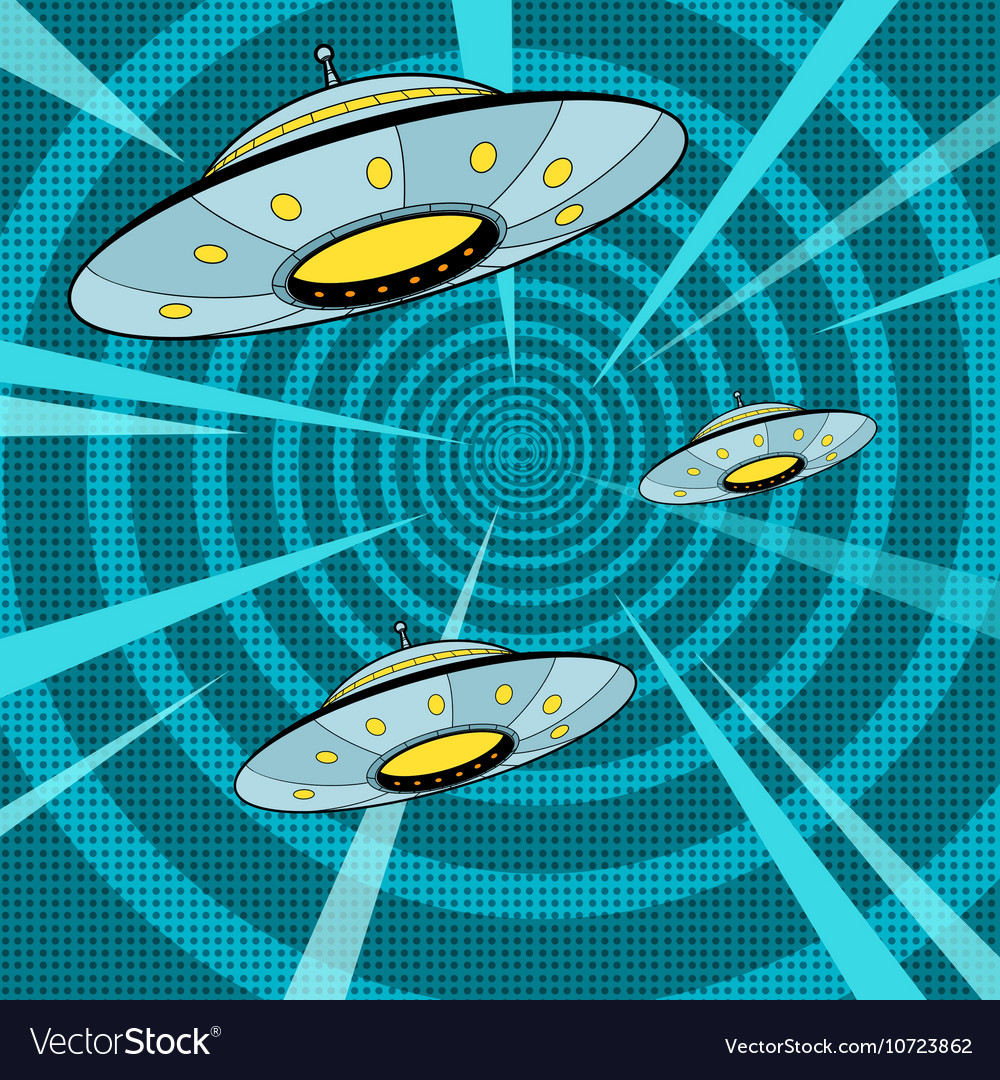 Space attack UFO vector image