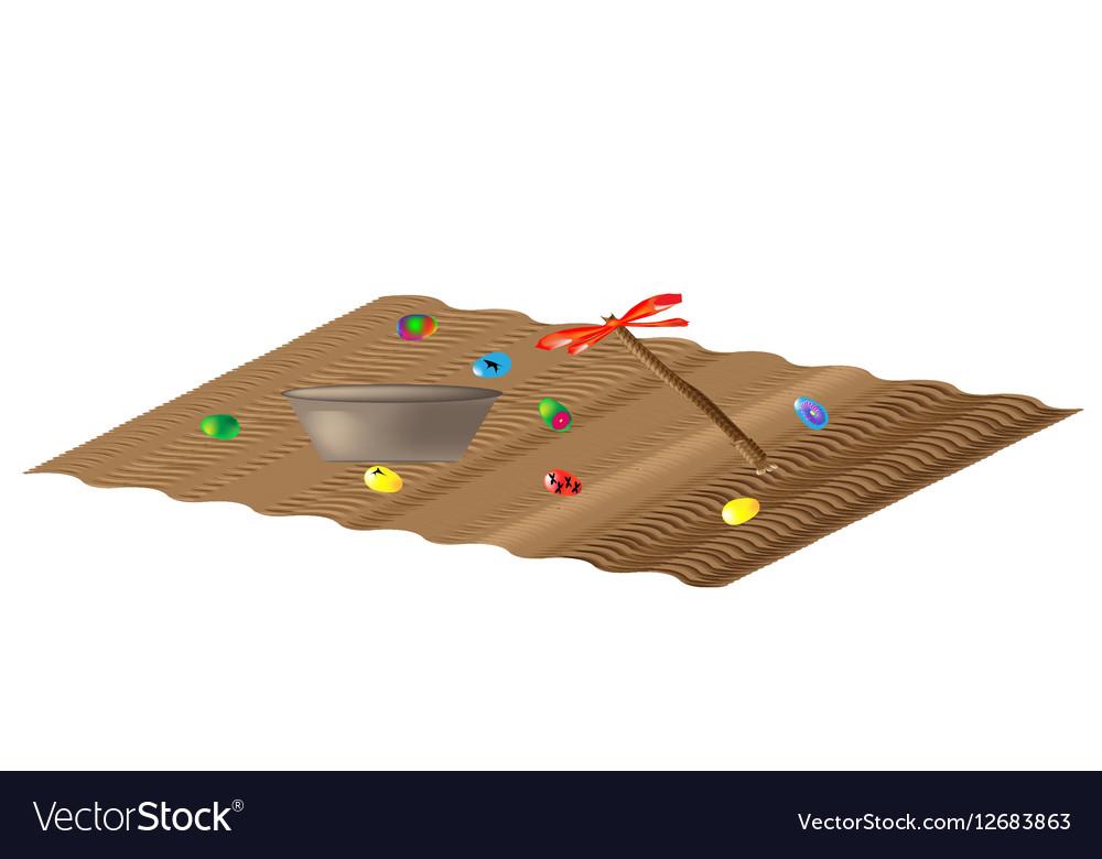 Easter carpet vector image