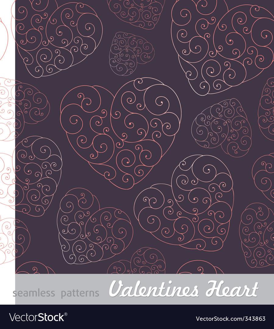 Valentine's hearts background vector image